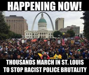 march in St. Louis to stop police brutality